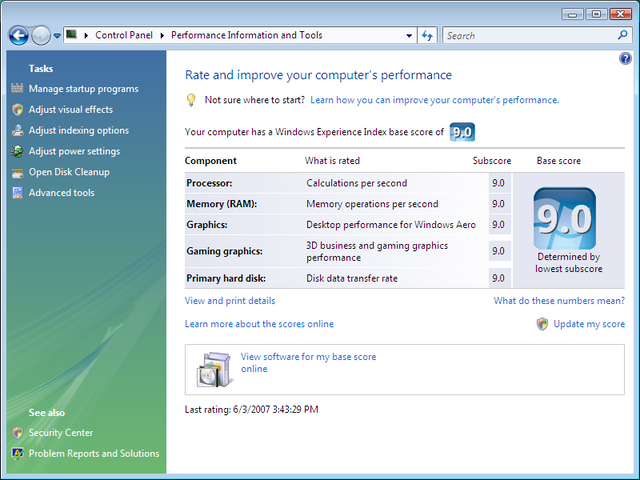Computer performance tester software