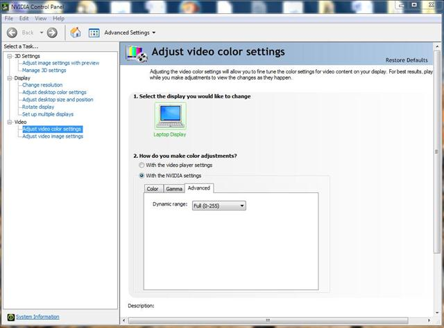 Fix washed out colors or black levels in windows media center note ccuart Images