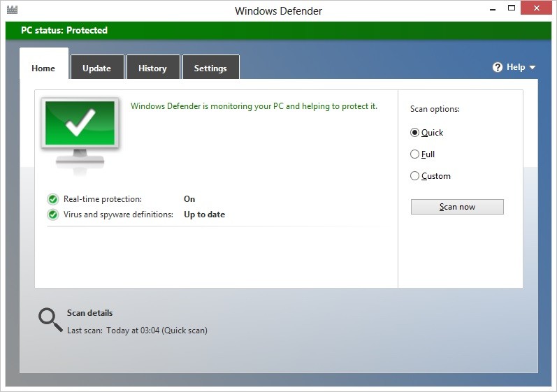 Recommended default action in windows 8 defender – Making